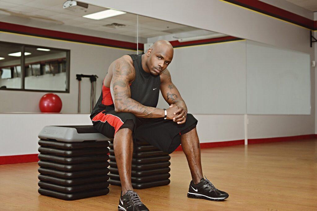 fitness, guy, black